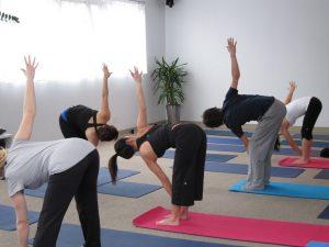 Groep yoga les